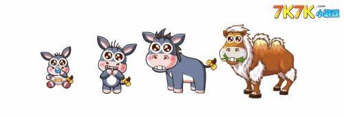 小毛驴-白峰骆驼变异进化图鉴及获得方法